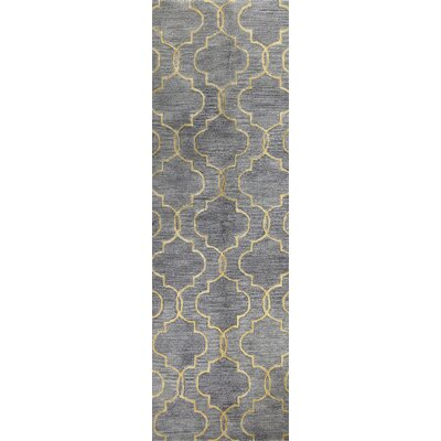 Valley Hand-Tufted Grey Area Rug Rug Size: Runner 26 x 8