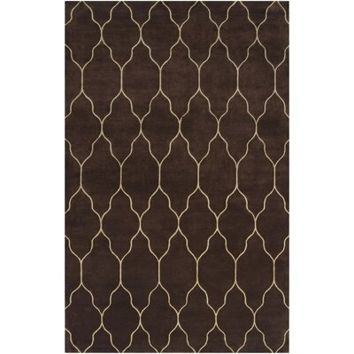 Moreton Chocolate/Ivory Geometric Area Rug Rug Size: Rectangle 5 x 8