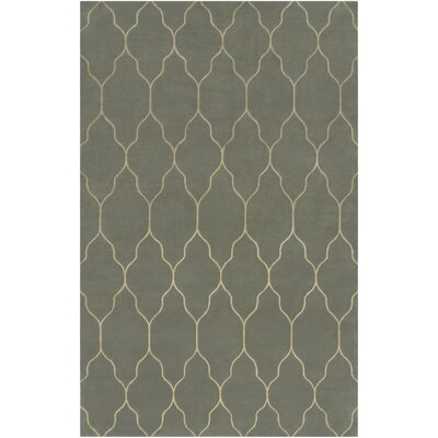 Moreton Silver Blue/Ivory Geometric Area Rug Rug Size: Rectangle 2 x 3