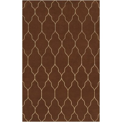 Moreton Mocha Geometric Area Rug Rug Size: Rectangle 5 x 8