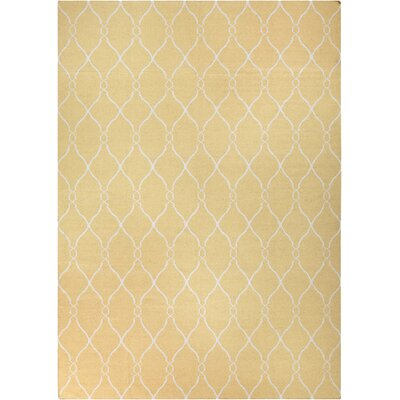 Schaefferstown Hand-Woven Gold Area Rug Rug Size: Rectangle 9 x 13