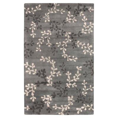 Fulkerson Vine Charcoal Gray Area Rug Rug Size: Rectangle 5 x 8