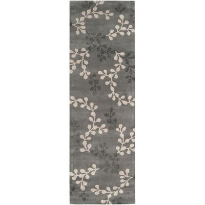 Fulkerson Vine Charcoal Gray Area Rug Rug Size: Runner 26 x 8