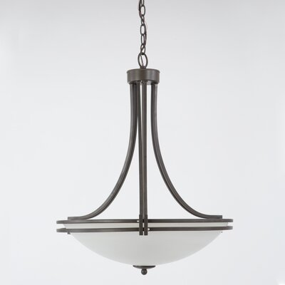 "Savannah Foyer Inverted Pendant Size: 21.18"" H x 21.5"" W x 21.5"" D, Finish: Dark Brown DRBC9450 34203722"
