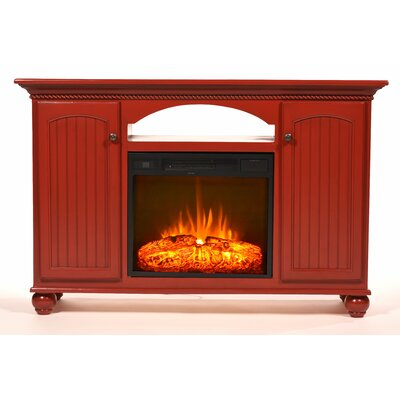Blackstone 56 TV Stand with Fireplace Color: European Gold