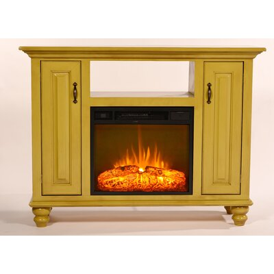 Blackwelder 52 TV Stand with Fireplace Color: European Ivory