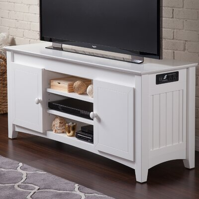 Pinckney 50 TV Stand Color: White