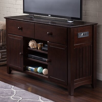 Pinckney 50 TV Stand Color: Espresso