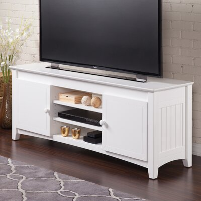 Pinckney 50- 60 TV Stand Color: White, Width of TV Stand: 24 H x 60 W x 17 D