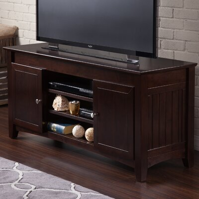 Pinckney 50- 60 TV Stand Color: White, Width of TV Stand: 24 H x 50 W x 17 D