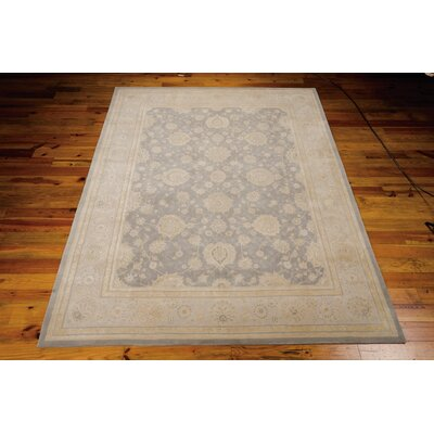 Morristown Hand Woven Wool Gray/Ivory Indoor Area Rug Rug Size: 56 x 86