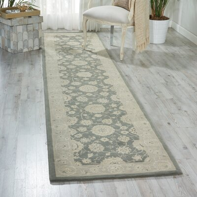 Morristown Hand Woven Wool Gray/Ivory Indoor Area Rug Rug Size: Runner 26 x 12