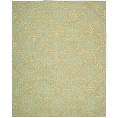 Cedarwood Hand-Woven Light Green Area Rug Rug Size: Rectangle 79 x 99