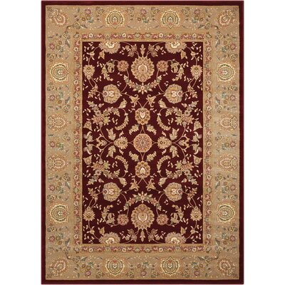 Hatchett Red/Taupe Area Rug Rug Size: 53 x 74
