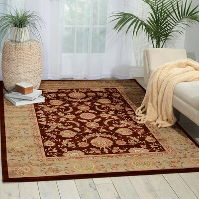 Hatchett Red/Taupe Area Rug Rug Size: Square 53