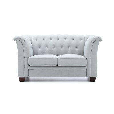 Tignor Tufted Chesterfield Loveseat Finish: Sky Blue