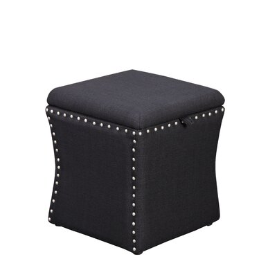 Sawiris Storage Ottoman Color: Black
