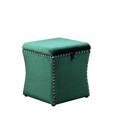Sawiris Storage Ottoman Color: Green