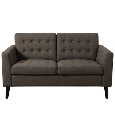 Starner Tufted Loveseat Upholstery: Wheat