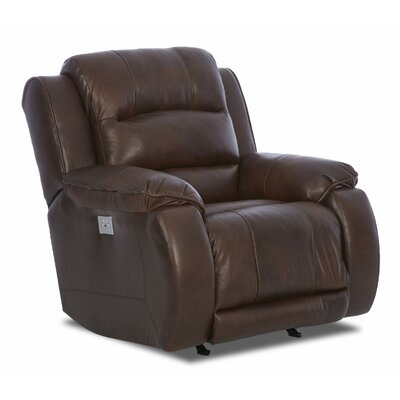 Baton Rouge Power Rocking Recliner with Headrest and Lumbar Support