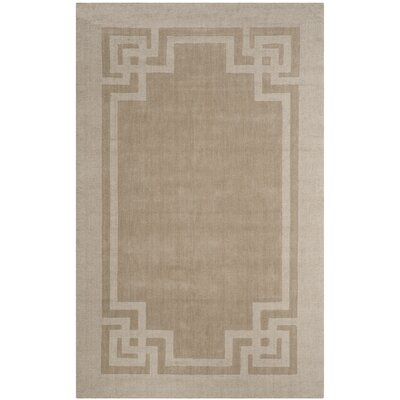 Deco Hand-Loomed Beige/Gray Area Rug Rug Size: Rectangle 8 x 10