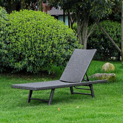Boveney Multi Position Chaise Lounge Finish: Antique Gray