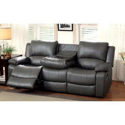 Darby Home Co DBYH1006 Wellersburg Leather Reclining Sofa