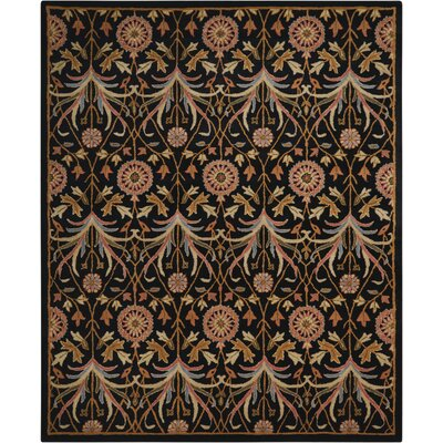 Carthage Hand-Tufted Black Area Rug Rug Size: Rectangle 5 x 7