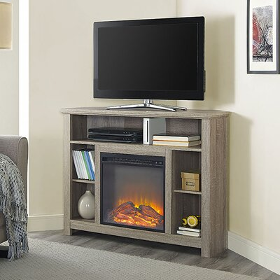 Senecaville Corner 44 TV Stand with Fireplace Color: Driftwood