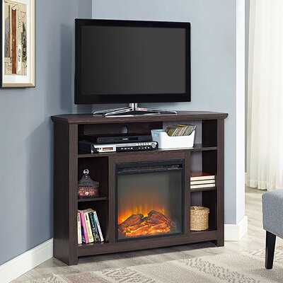 Senecaville Corner 44 TV Stand with Fireplace Finish: Espresso