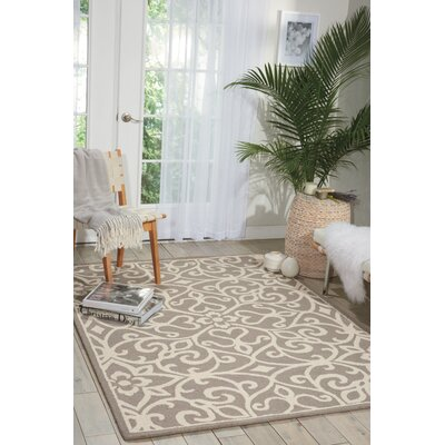 Hockenberry Hand-Woven Taupe/Ivory Area Rug Rug Size: Rectangle 23 x 76
