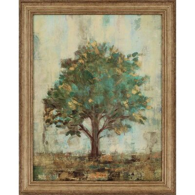 'Verdi Trees I' Framed Painting Print
