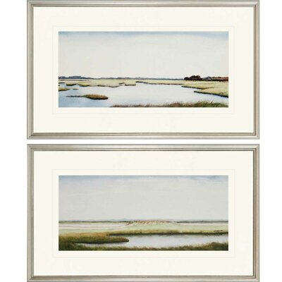 'Marshlands I' 2 Piece Framed Painting Print Set