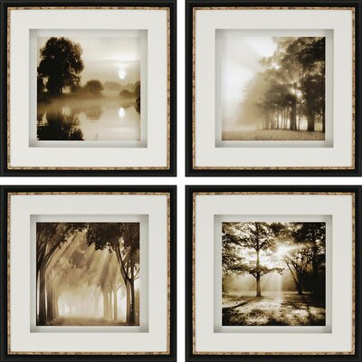 'Reflections' 4 Piece Photographic Print Set