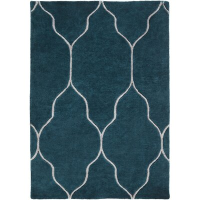 Moreton Teal Geometric Area Rug Rug Size: Rectangle 5 x 8