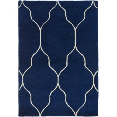 Moreton Cobalt/Light Gray Area Rug Rug Size: Rectangle 5 x 8