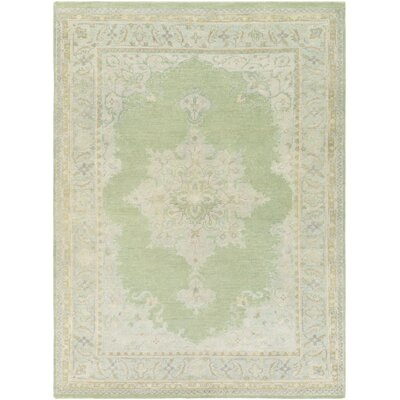 Orrville Hand-Knotted Green Area Rug Rug Size: Rectangle 2 x 3