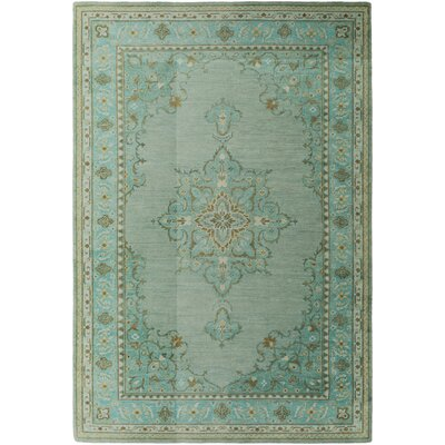 Orrville Green/Beige Tibetan Rug Rug Size: Rectangle 2 x 3