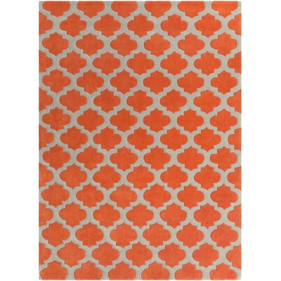 Freetown Poppy/Gray Geometric Area Rug Rug Size: 5 x 8