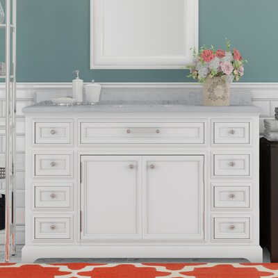 Alba 48 Single Sink Bathroom Vanity Set - White