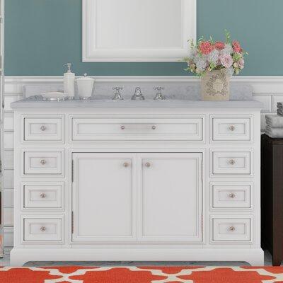 Alba 48 Single Sink Bathroom Vanity Set with Faucet - White