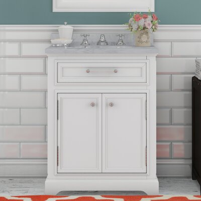 Alba 24 Single Sink Bathroom Vanity Set with Faucet - White