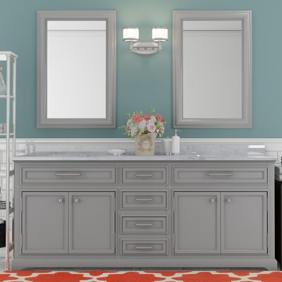 Colchester 72 Double Sink Bathroom Vanity Set - Grey