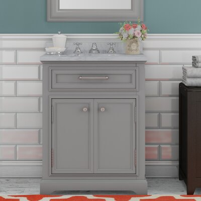 Colchester 24 Single Sink Bathroom Vanity Set with Faucet - Grey