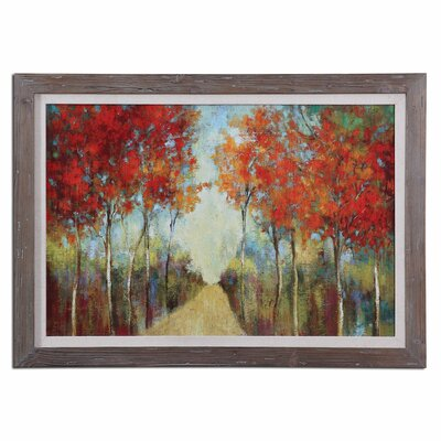'Nature's Walk Landscape' Framed Painting