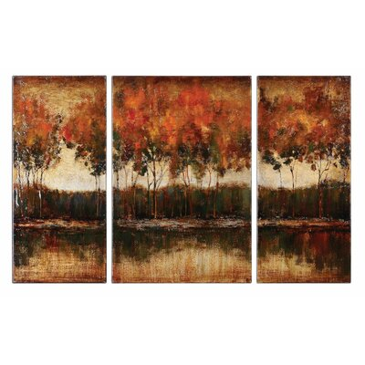 'Trilakes' 3 Piece Photographic Print on Canvas Set
