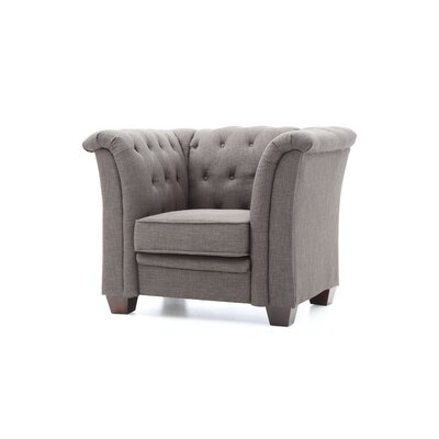 Tignor Tufted Armchair Upholstery: Gray Fabric