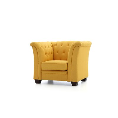 Tignor Tufted Armchair Upholstery: Yellow
