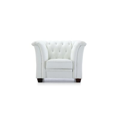 Tignor Tufted Armchair Upholstery: White