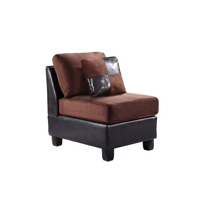 Childress Potsdam Slipper Chair Upholstery: Chocolate
